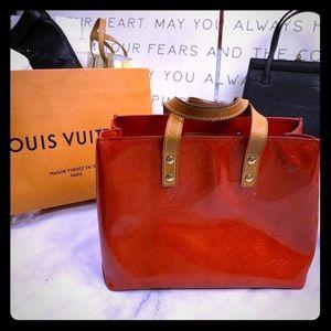 LOUIS VUITTON Cherry 🍒 red Vernis mini tote